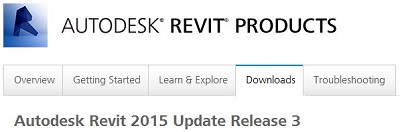 Revit 2015 Web Update 3