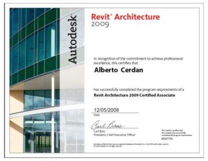Certificado Revit 2009